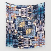 community Wall Tapestries featuring Community of Cubicles by Phil Perkins