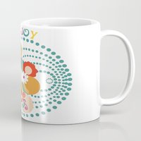 70s Mugs featuring 70s Circle  by Louise Machado
