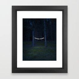 Catching Feelings Framed Art Print