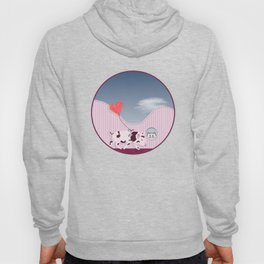Baby Pig and Cat Design Hoody