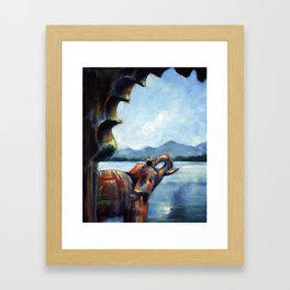 The Elephant's View Framed Art Print