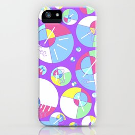 Bubble Purple iPhone Case