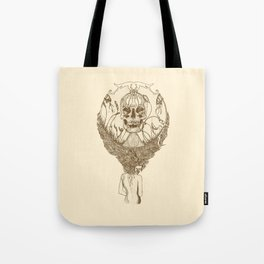 lady death // brown Tote Bag