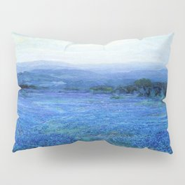 Bluebonnet Panoramic Landscape in Twilight painting by Robert Julian Onderdonk Pillow Sham