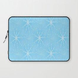Blue Winter Snowflakes Laptop Sleeve