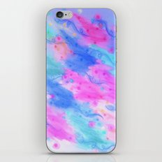 SEEING STARS 1 - Light Blue Pretty Starry Sky Abstract Watercolor Painting Lovely Feminine Pattern iPhone Skin