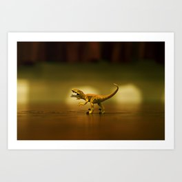 Jurassic Park Raptor  Art Print