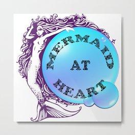 Mermaid at Heart Metal Print
