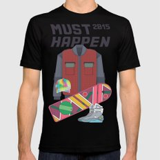 Must Happen 2015 V2 Black Mens Fitted Tee MEDIUM