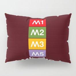 Milan metro map, Bob Noorda, Massimo Vignelli, subway alphabet map Pillow Sham