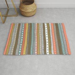 natural color doodle stripes Rug