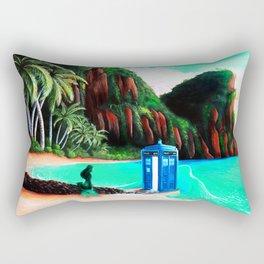 Tardis With Beauty Mermaid Rectangular Pillow