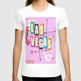 Vintage Las Vegas Vacation print pink version T-shirt