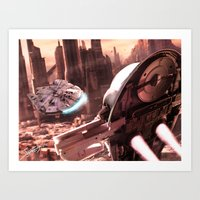 Art Print featuring Slave 1 - The Prize by jcalum2012