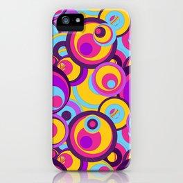 Retro Circles Groovy Colors iPhone Case