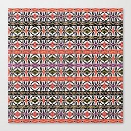 Ethnic striped pattern. Canvas Print
