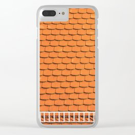 Tiled Roof After Summer Rain Clear iPhone Case