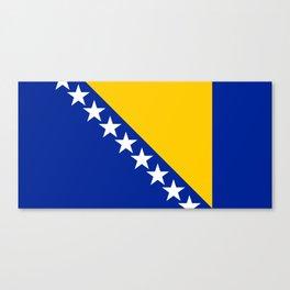 Bosnia And Herzegovina Flag Canvas Print