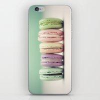 macaron iPhone & iPod Skins featuring Macaron Row by Tiny Deer Studio
