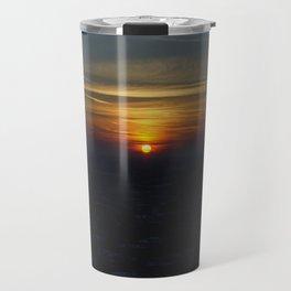 Chicago Sunset, February 6, 2015 (Chicago Sunrise/Sunset Collection) Travel Mug