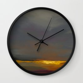 Golden Lining. Wall Clock