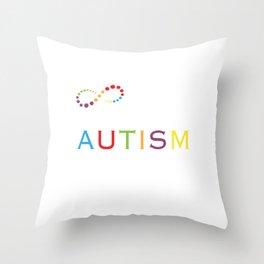 It's Not Just a Month Autism Awareness Motivational T-Shirt Throw Pillow