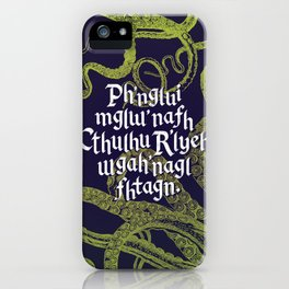 Cthulhu Waits Dreaming iPhone Case
