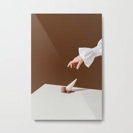 Chocolate ice cream Metal Print