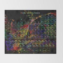 Periodic Table RGB Throw Blanket