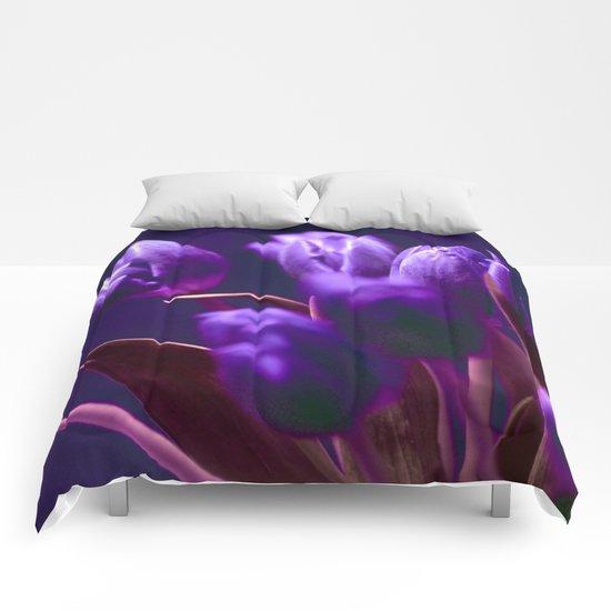 VIOLET TULIPS Comforters