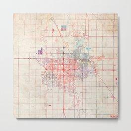 Fargo map North Dakota painting Metal Print