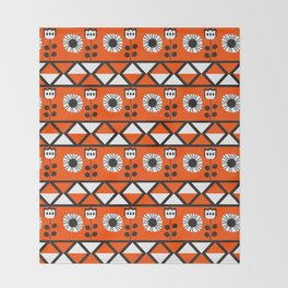 Shapes and flowers Throw Blanket
