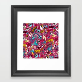 Sad Donut, Jerk  Framed Art Print