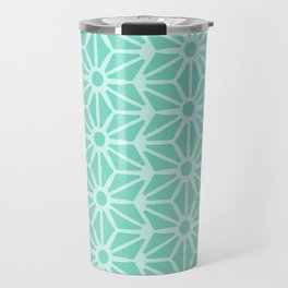 Asanoha Pattern - Mint Travel Mug