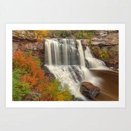 Blackwater Autumn Falls Art Print