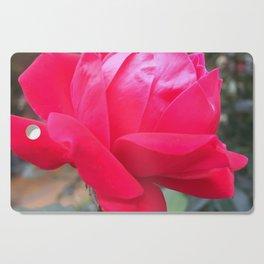 Bright Pink Autumn Rose Cutting Board