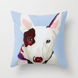 Archie the Bull Terrier Throw Pillow