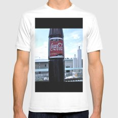 Industrial Coke MEDIUM White Mens Fitted Tee