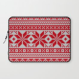 Winter knitted pattern 6 Laptop Sleeve
