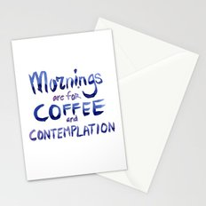 Mornings are for Coffee and Contemplation Stranger Things Quote Stationery Cards