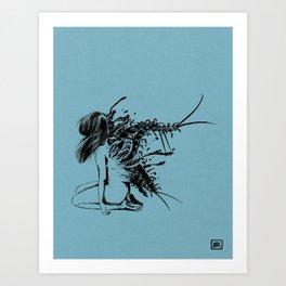 squirm Art Print