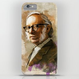 Isaac Asimov Portrait iPhone Case