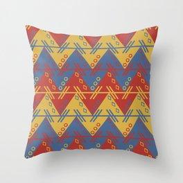 Tribal Zigzag Line Pattern Throw Pillow