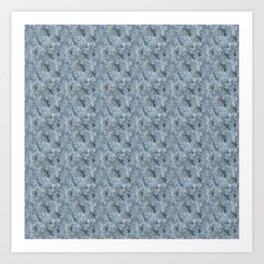 Light Blue Celestite Close-Up Crystal Art Print