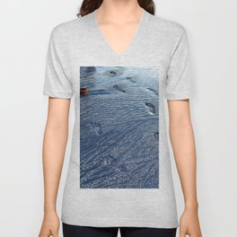 Footprints at the Beach Unisex V-Neck