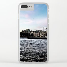 A London Love Story Clear iPhone Case