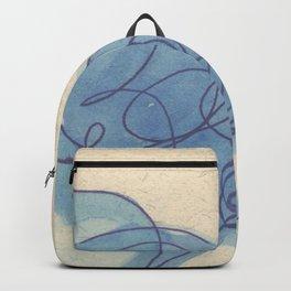 Rolling Blue Backpack