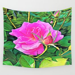 Pink Flower of Graceful Beauty Wall Tapestry