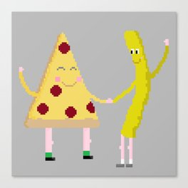 pizza/fry day Canvas Print