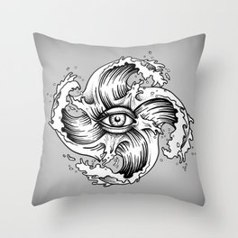 WITHIN THE EYE OF THE STORM Throw Pillow